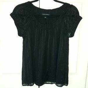 Banana Republic Semi-Sheer Striped Blouse Size XS